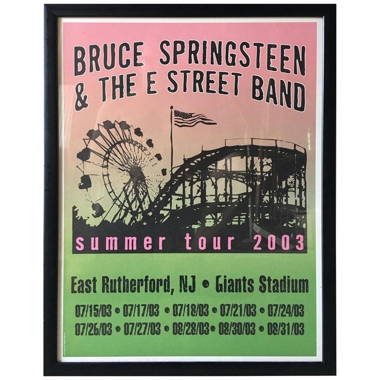 Bruce Springsteen Summer Tour 2003 Poster For Sale