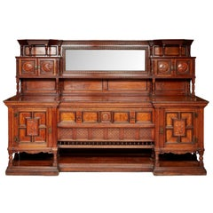 Bruce Talbert for Gillows Aesthetic Movement Exhibition Quality Walnut Sideboard