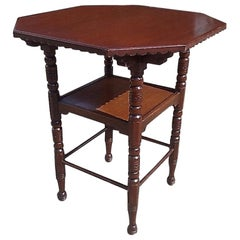 Bruce Talbert, Style of a Fine Aesthetic Movement Walnut Two-Tier Side Table