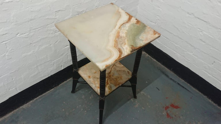 Ebonized Bruce Talbert, Style of, Probably by Gillows, an Aesthetic Movement Side Table For Sale