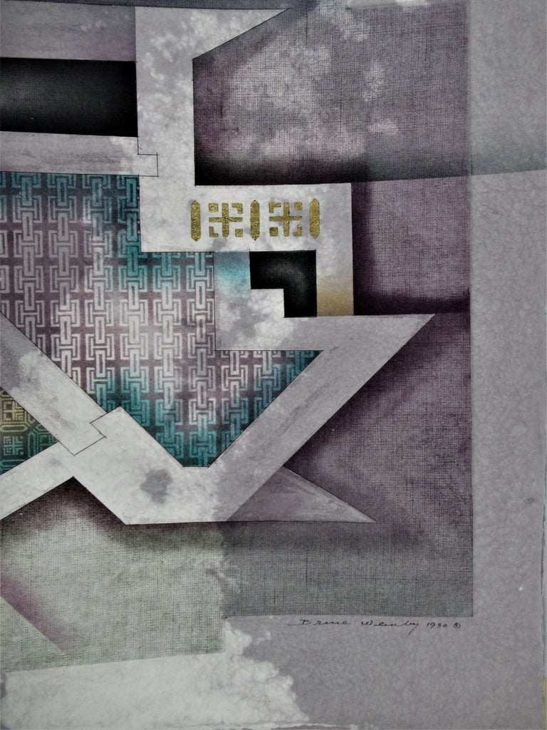 Aero - Gray Abstract Print by Bruce Weinberg
