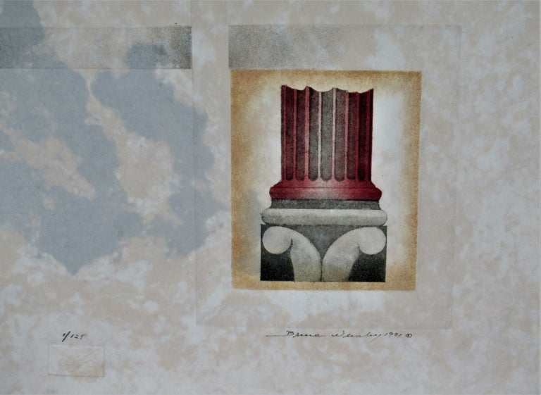 Palladio - Gray Abstract Print by Bruce Weinberg