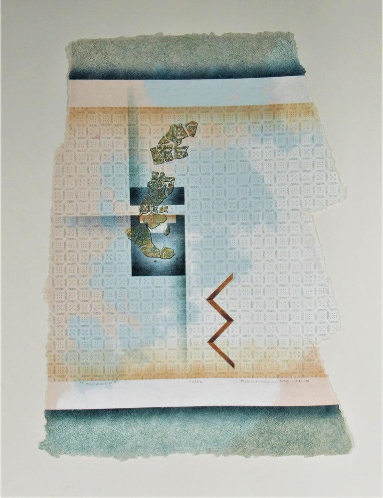 Bruce Weinberg Abstract Print - Savared