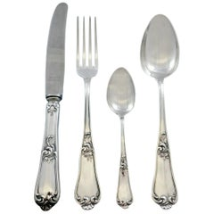Bruckmann & Sohne German Sterling Silver Flatware Set Service 24 Pieces Dinner