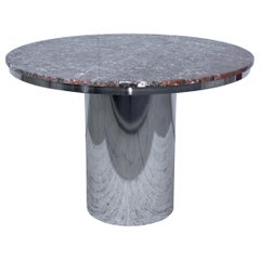 Brueton Stainless Steel And Marble Dining Table
