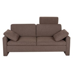 Brühl & Sippold Alba Fabric Sofa Brown Two-Seater Couch