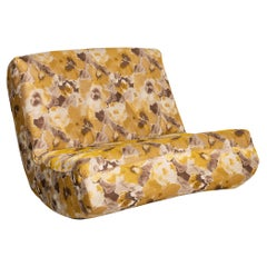 Brühl & Sippold Lucky Fabric Armchair Gold Yellow Brown Patterned