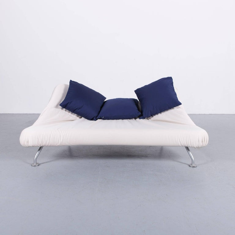 Brühl & Sippold More Bed-Sofa in White Fabric Couch 5