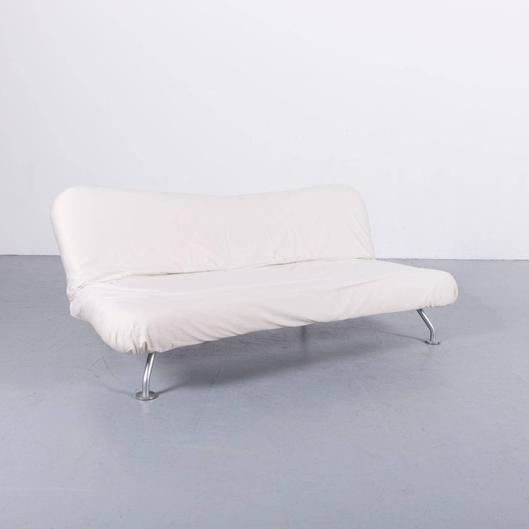German Brühl & Sippold More Bed-Sofa in White Fabric Couch