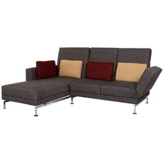 Brühl & Sippold Moule Fabric Corner Sofa Gray Sofa Relax Function Function Couch