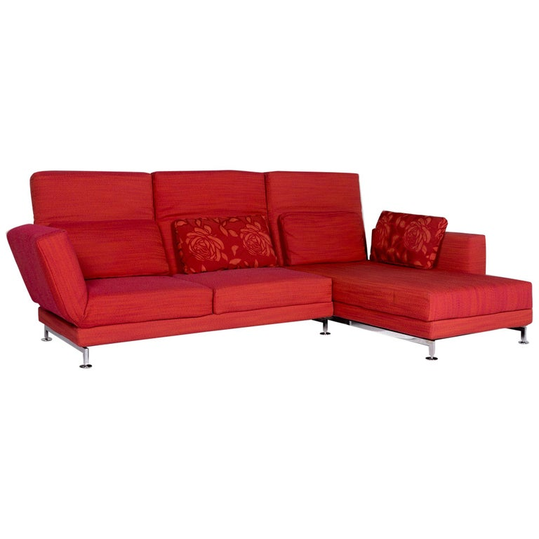 br hl and sippold moule fabric corner sofa red sofa relax function function couch for sale at