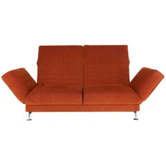 Brühl & Sippold Moule Fabric Sofa Orange Two-Seat Incl. Function