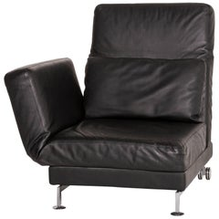 Brühl & Sippold Moule Leather Lounger Black Function Relax Function Sleep