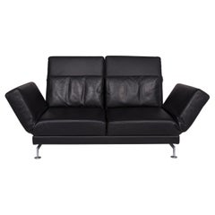 Brühl & Sippold Moule Leather Sofa Black Two-Seat