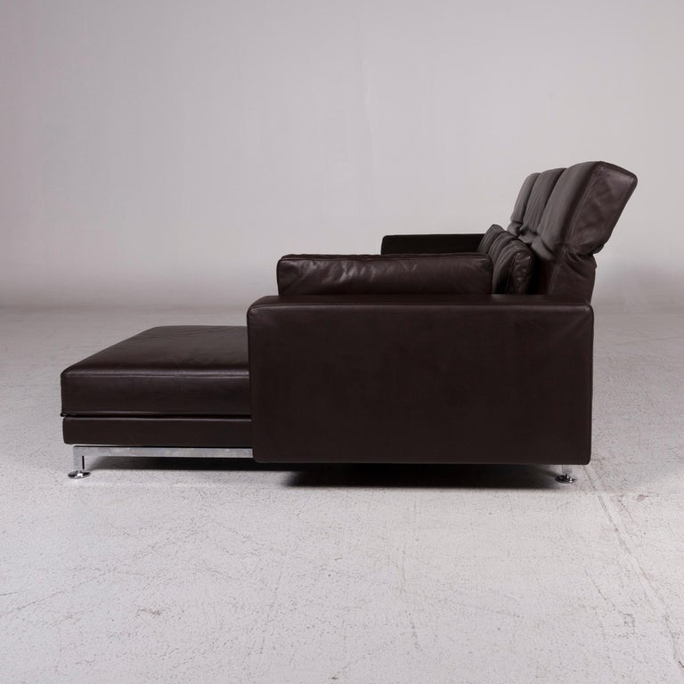 br hl and sippold moule leather sofa set brown stool incl function for sale at 1stdibs