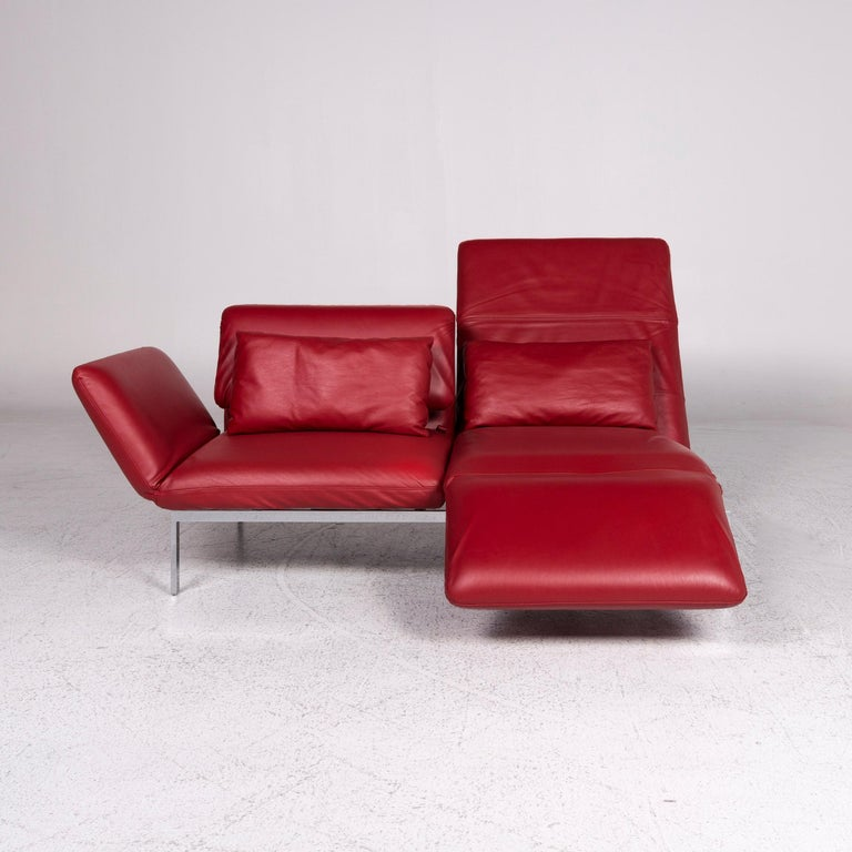 Br 252 Hl And Sippold Roro Designer Leather Sofa Red Two Seat