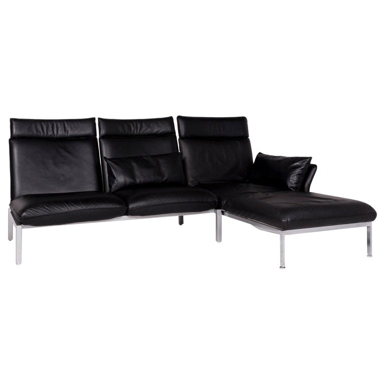 Prime Bruhl Sippold Roro Leather Corner Sofa Black Function Couch Caraccident5 Cool Chair Designs And Ideas Caraccident5Info
