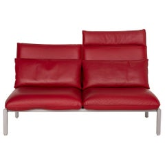 Brühl & Sippold Roro Leather Sofa Two-Seater Reclining Function Relaxation