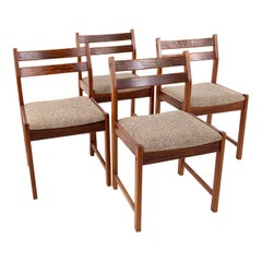 Bruksbo Mid Century Rosewood Dining Chairs, Set of 4
