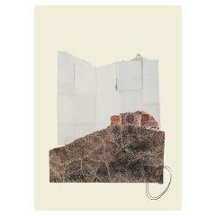 """""""Brullo / Liquirizia"""" Mixed Media Collage Contemporary Art by Jufà Decor"""