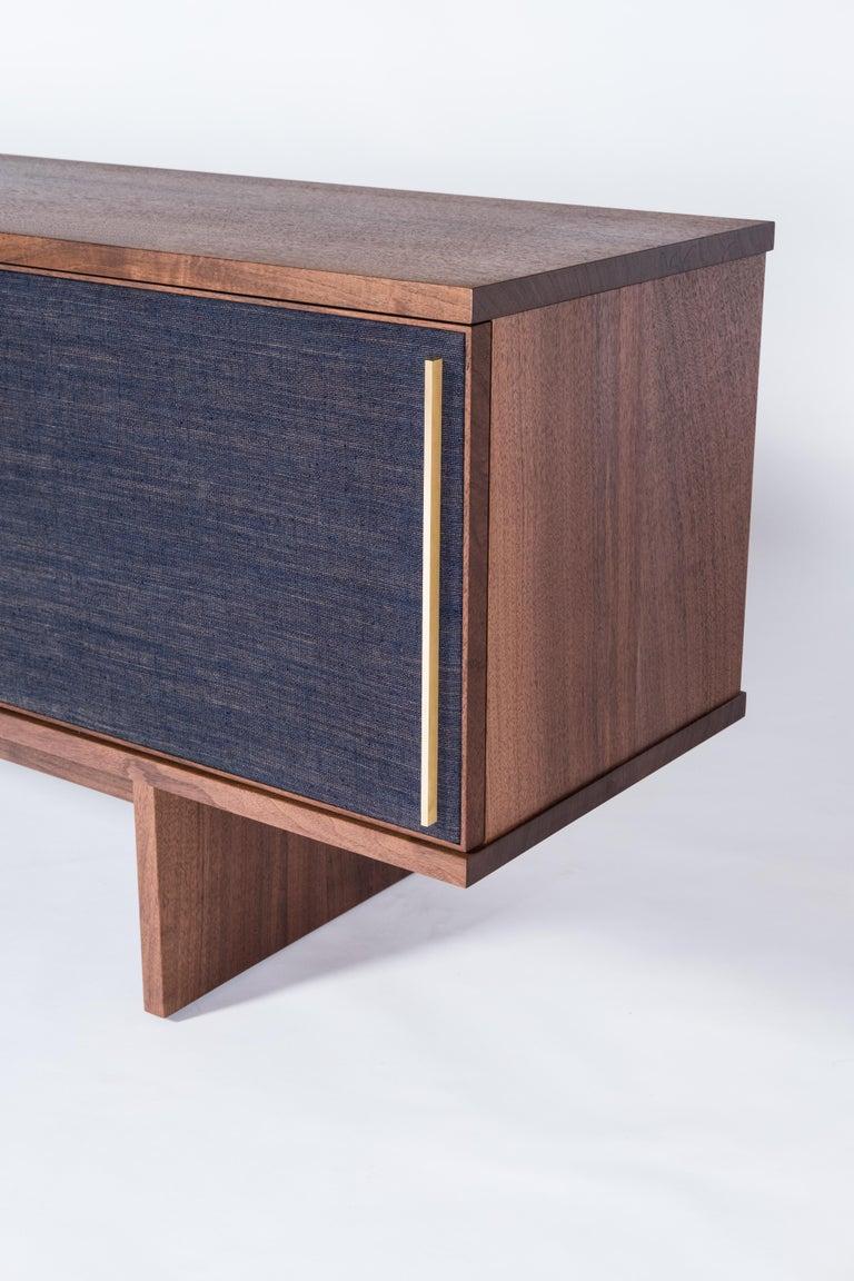 Brume Cabinet Credenza by Tretiak Works, Modern Contemporary Walnut Brass  For Sale 1