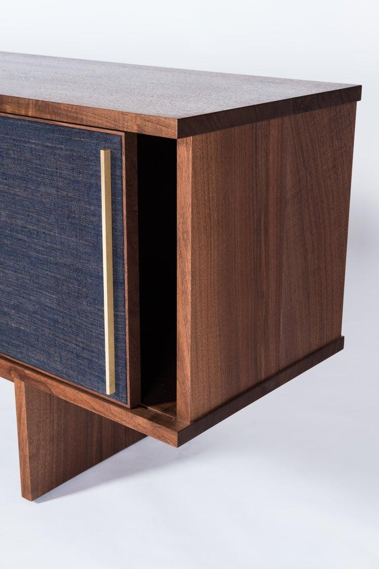 Brume Cabinet Credenza by Tretiak Works, Modern Contemporary Walnut Brass  For Sale 2