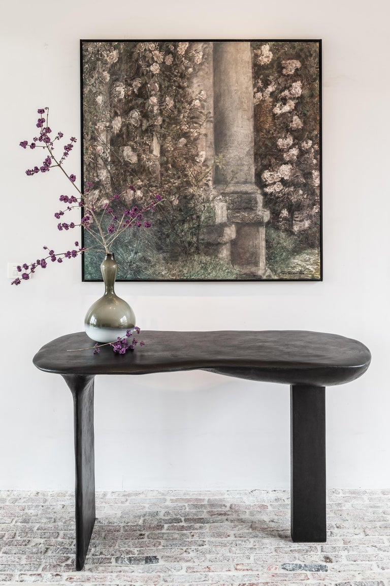 Belgian Brunate Console Table by Studio Emblématique For Sale