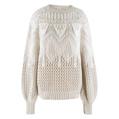 Brunello Cucinelli Cashmere Open Cable Knit Jumper M