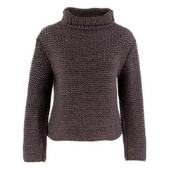 Brunello Cucinelli Cashmere Roll Neck Chunky Knit Sweater XS