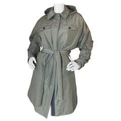 Brunello Cucinelli Coat w/ Removable Hood & Waist Tie sz IT 40