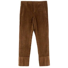 Brunello Cucinelli Cropped Brown Corduroy Cropped Pants IT 38