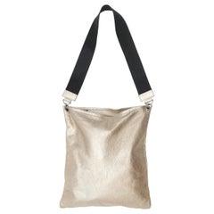 Brunello Cucinelli Gold Leather Tote Bag