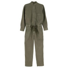 Brunello Cucinelli Green Military Jumpsuit - Size US 4