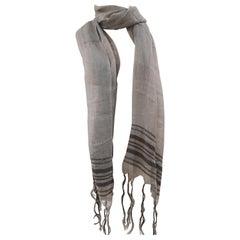 Brunello Cucinelli grey scarf - fouldard