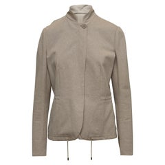 Brunello Cucinelli Light Brown Lightweight Jacket