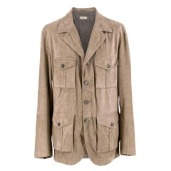 Brunello Cucinelli Men's Suede Jacket XL