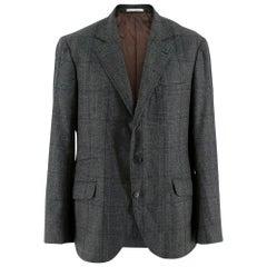Brunello Cucinelli Men's Wool, Silk & Cashmere Single Breasted Jacket 52