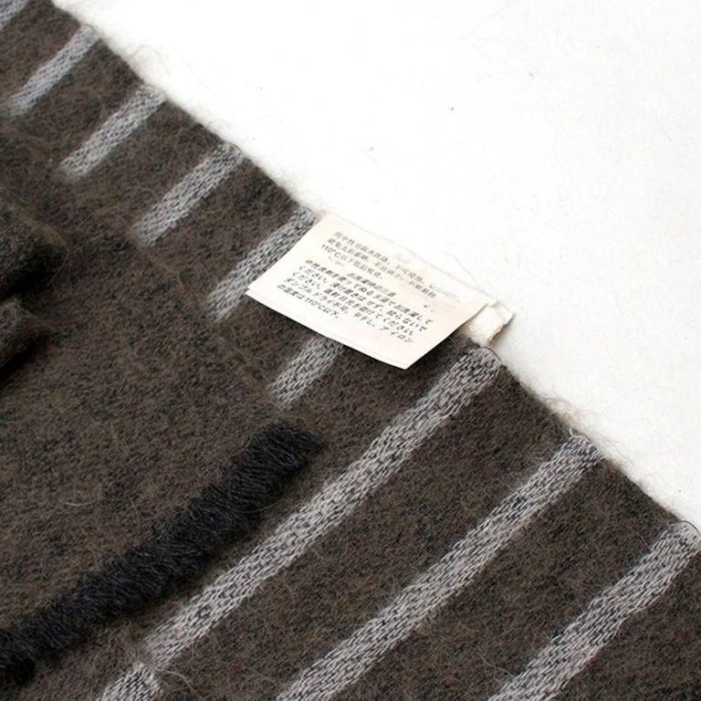 Brunello Cucinelli Mohair, Alpaca & Cashmere XL Striped Shawl For Sale 1