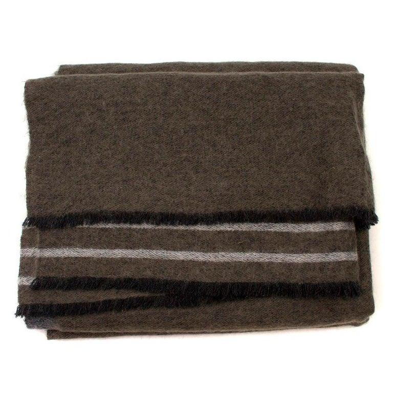 Brunello Cucinelli Mohair, Alpaca & Cashmere XL Striped Shawl For Sale 2