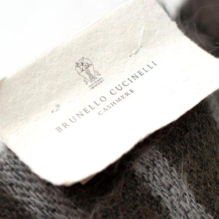 Brunello Cucinelli Mohair, Alpaca & Cashmere XL Striped Shawl For Sale 4