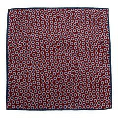 Brunello Cucinelli Multi Polka Dot Wool Pocket Square