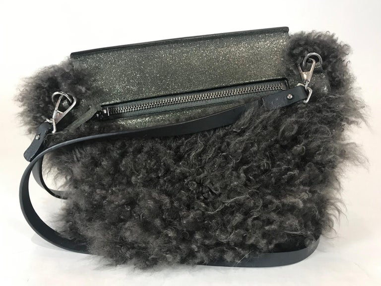 Brunello Cucinelli Shearling Crossbody Bag In Excellent Condition For Sale In Roslyn, NY