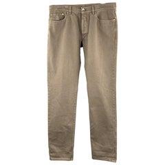 BRUNELLO CUCINELLI Size 34 Taupe Cotton Jean Cut Casual Pants