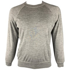BRUNELLO CUCINELLI Size 42 Gray Wool Raglan Pullover Sweater