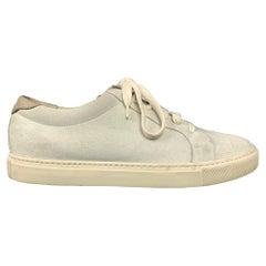 BRUNELLO CUCINELLI Size 7.5 Sea Foam Suede Sneakers