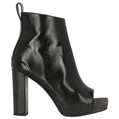 Brunello Cucinelli Woman Ankle boots Black Leather IT 38