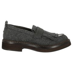 Brunello Cucinelli Woman Loafers Grey EU 38