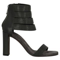 Brunello Cucinelli  Women   Sandals  Anthracite Leather EU 38