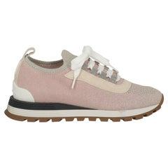Brunello Cucinelli Women  Sneakers Beige Synthetic Fibers IT 37