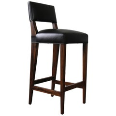 Bruno Bar Stool from Costantini in Argentine Rosewood and Leather
